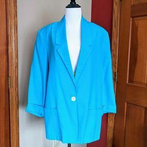 Vintage 80s Cape Cod Sportswear blue blazer jacket